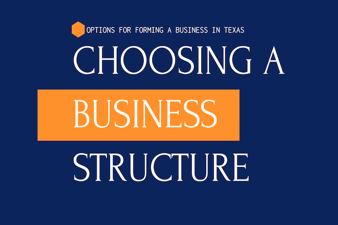 Options For Forming A Business In Texas